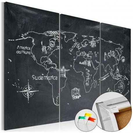 Obraz na korku  Lekcja geografii [Mapa korkowa]
