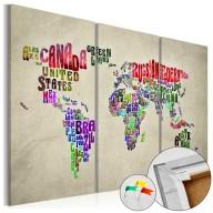 Obraz na korku  Kolorowe państwa [Mapa korkowa]