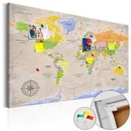 Obraz na korku  Maps Vintage Style [Mapa korkowa]