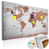 Obraz na korku  Ceglany świat [Mapa korkowa]