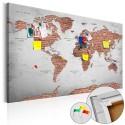 Obraz na korku - Ceglany świat [Mapa korkowa]