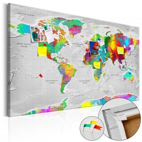 Obraz na korku  Mapy Kolorowa finezja [Mapa korkowa]