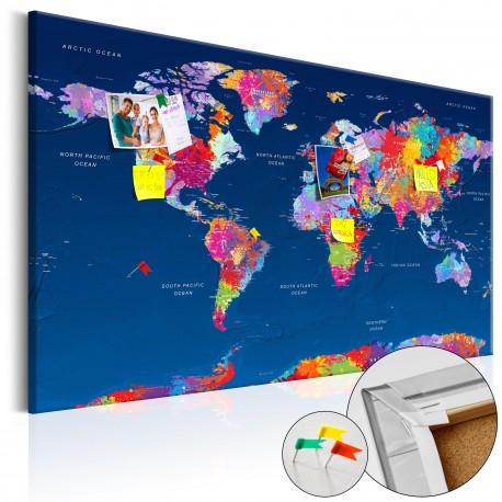 Obraz na korku  Mapa świata Artystyczna fantazja