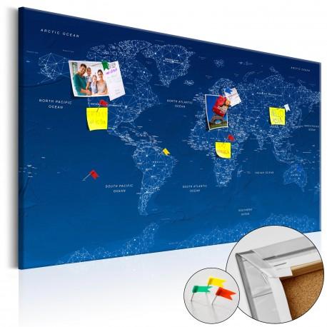 Obraz na korku  Mapa świata World Connection [Mapa korkowa]