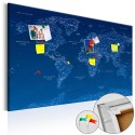 Obraz na korku - Mapa świata: World Connection [Mapa korkowa]