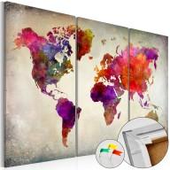 Obraz na korku  Mozaika kolorów [Mapa korkowa]