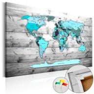 Obraz na korku  Błękitne kontynenty [Mapa korkowa]
