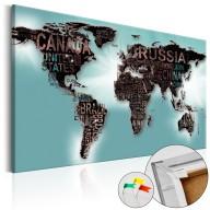 Obraz na korku  Subtelność świata [Mapa korkowa]