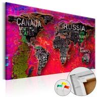 Obraz na korku - Czerwona Ziemia [Mapa korkowa]