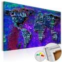 Obraz na korku - Intrygujący świat [Mapa korkowa]
