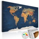 Obraz na korku - Atramentowe oceany [Mapa korkowa]