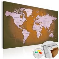 Obraz na korku  Miedziane podróże [Mapa korkowa]