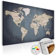 Obraz na korku - Odcienie szarości [Mapa korkowa]