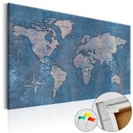 Obraz na korku  Szafirowa planeta [Mapa korkowa]