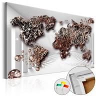 Obraz na korku  Świat przyszłości [Mapa korkowa]