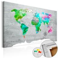 Obraz na korku  Zielony raj [Mapa korkowa]