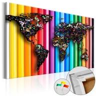 Obraz na korku  Kolorowe ołówki [Mapa korkowa]
