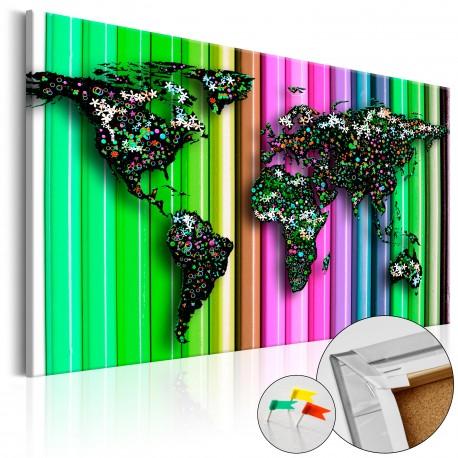 Obraz na korku  Ołówkowy świat [Mapa korkowa]