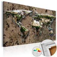 Obraz na korku  Dziki świat [Mapa korkowa]