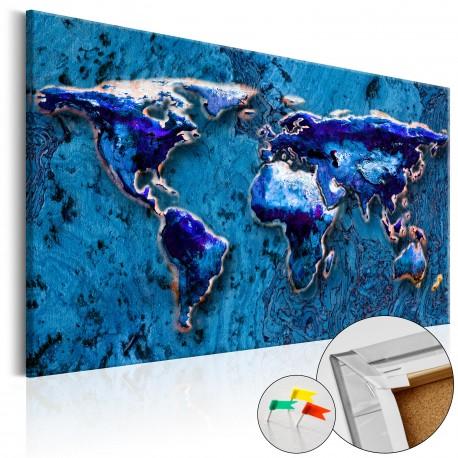 Obraz na korku  Kobaltowe zanurzenie [Mapa korkowa]