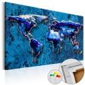 Obraz na korku - Kobaltowe zanurzenie [Mapa korkowa]