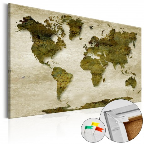 Obraz na korku  Leśna planeta [Mapa korkowa]
