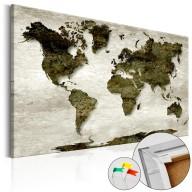 Obraz na korku  Zielona planeta [Mapa korkowa]