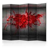 Parawan 5częściowy  Czerwony kleks II [Parawan]