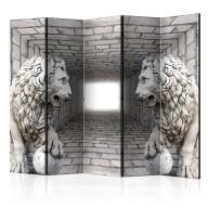 Parawan 5częściowy  Kamienne lwy II [Parawan]
