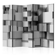 Parawan 5częściowy  Geometryczne puzzle II [Parawan]