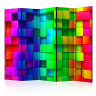 Parawan 5częściowy  Kolorowe sześciany II [Parawan]