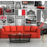 Fototapeta  London, Paris, Berlin, New York