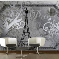 Fototapeta  Vintage Paris  srebrny