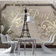 Fototapeta  Vintage Paris  złoty