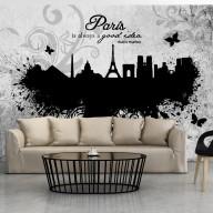 Fototapeta  Paris is always a good idea  black and white