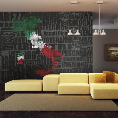 Fototapeta  Text map of Italy