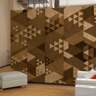 Fototapeta  Brązowy patchwork