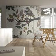 Fototapeta  Ptaszek na gałęzi (patchwork)
