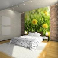Fototapeta  Żółty kwiatowy dywan
