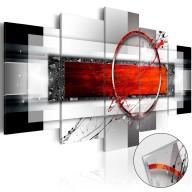 Obraz na szkle akrylowym  Karminowy pocisk [Glass]