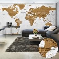 Fototapeta XXL  Mapa świata Białe oceany II