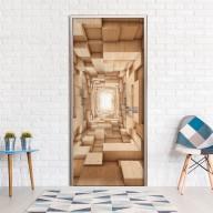 Fototapeta na drzwi  Drewniany tunel