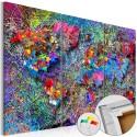 Obraz na korku - Kolorowe kłębowisko [Mapa korkowa]