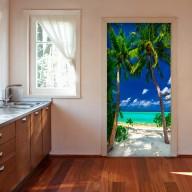 Fototapeta na drzwi  Tapeta na drzwi  Wyspa, plaża