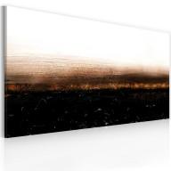 Obraz malowany  Black soil (Abstraction)