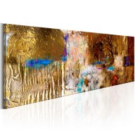 Obraz malowany  Złota konstrukcja