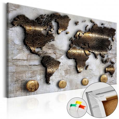 Obraz na korku  Złota podróż [Mapa korkowa]
