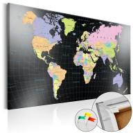 Obraz na korku  Królestwo człowieka  [Mapa korkowa]