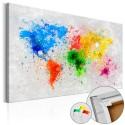 Obraz na korku - Światowy ekspresjonizm [Mapa korkowa]