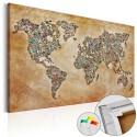 Obraz na korku - Pocztówki ze świata [Mapa korkowa]